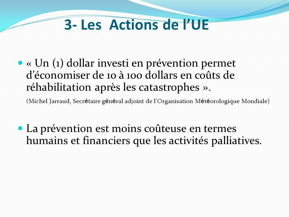 3- Les Actions de l'UE
