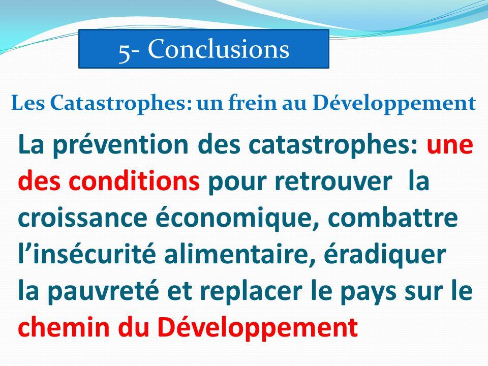 5- Conclusions Les Catastrophes: un frein au Développement.