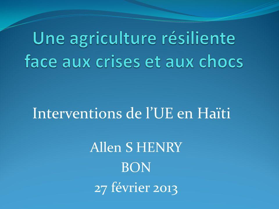 Une agriculture résiliente face aux crises et aux chocs