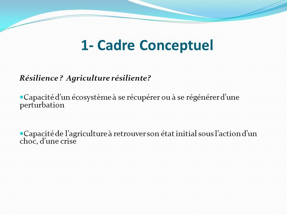 1- Cadre Conceptuel Résilience Agriculture résiliente