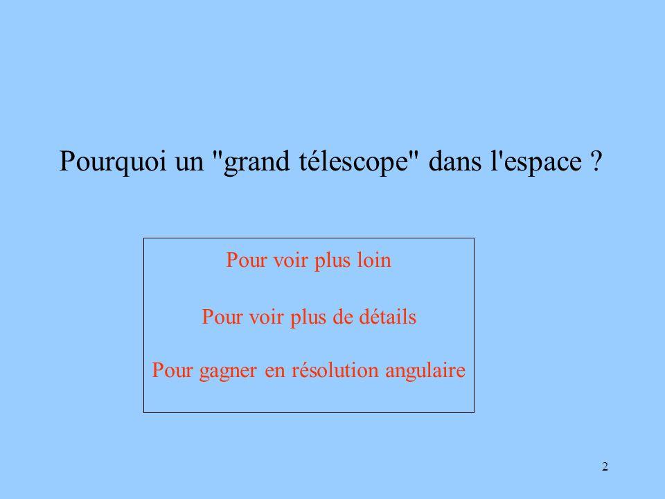 Pourquoi un grand télescope dans l espace