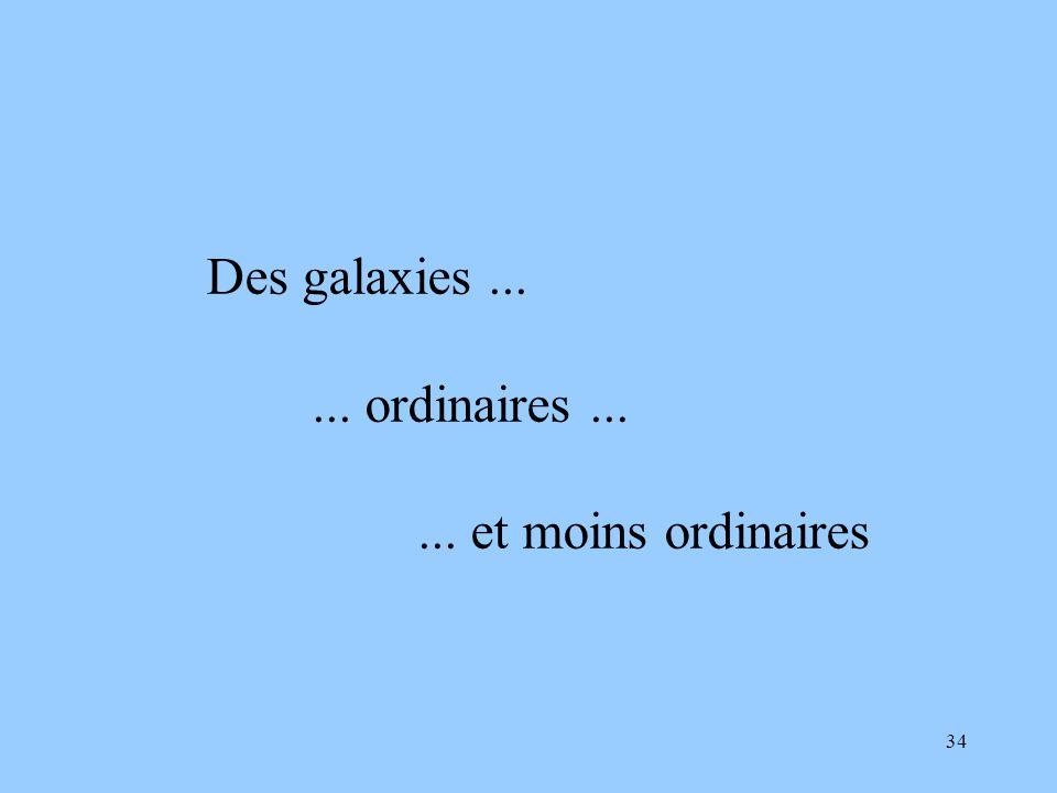 Des galaxies ... ... ordinaires ... ... et moins ordinaires