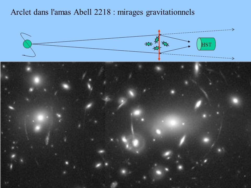 Arclet dans l amas Abell 2218 : mirages gravitationnels