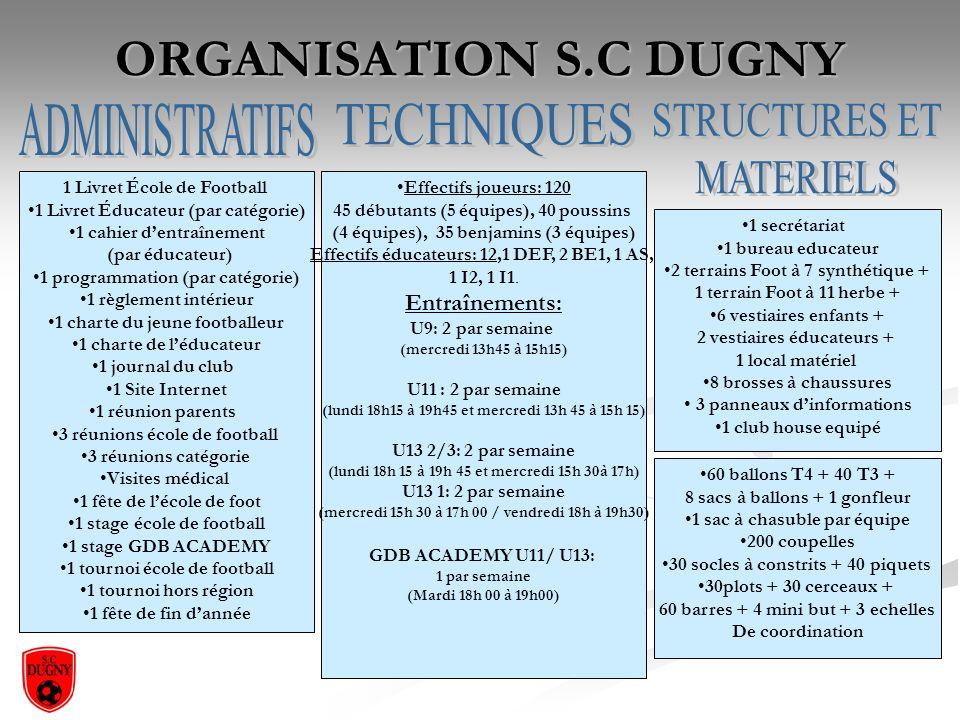 ORGANISATION S.C DUGNY ADMINISTRATIFS TECHNIQUES STRUCTURES ET