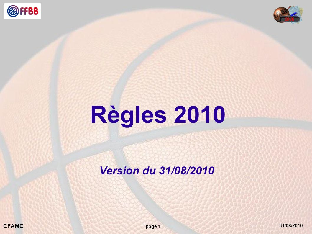Règles 2010 Version du 31/08/2010