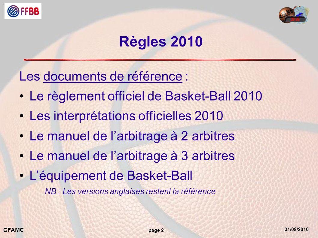 Règles 2010 Les documents de référence :