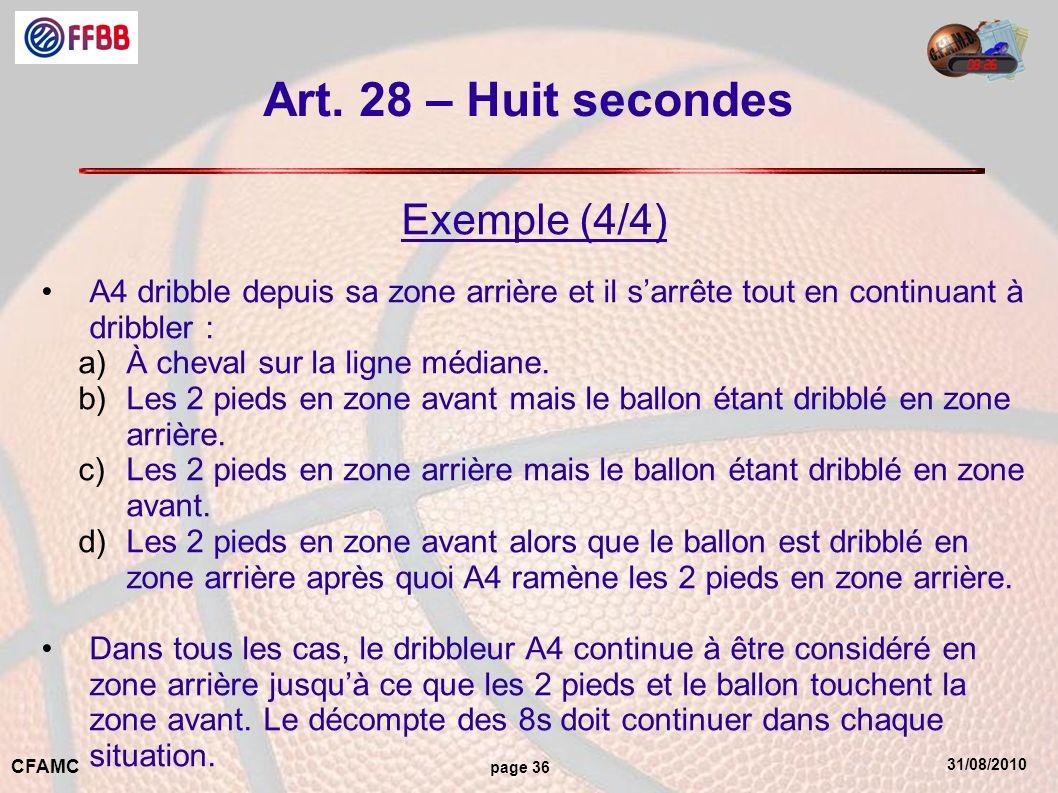 Art. 28 – Huit secondes Exemple (4/4)