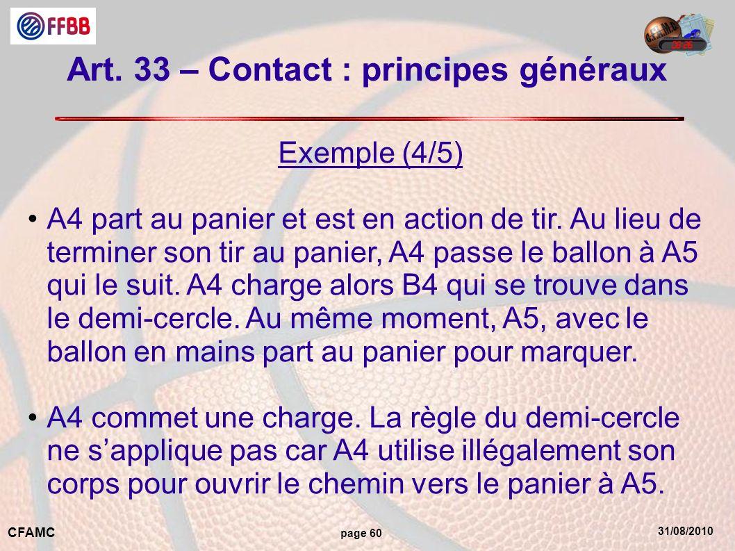 Art. 33 – Contact : principes généraux