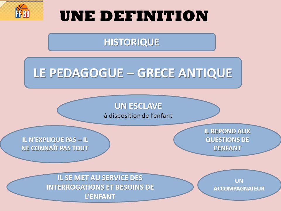 UNE DEFINITION LE PEDAGOGUE – GRECE ANTIQUE HISTORIQUE UN ESCLAVE