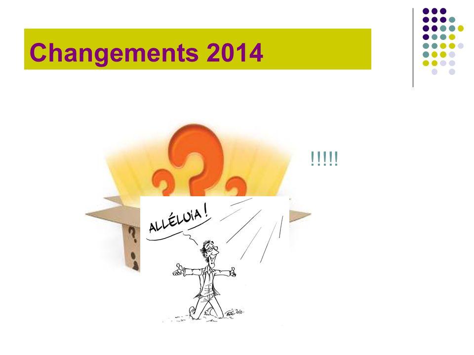 Changements 2014 Pas de changement !!!!!