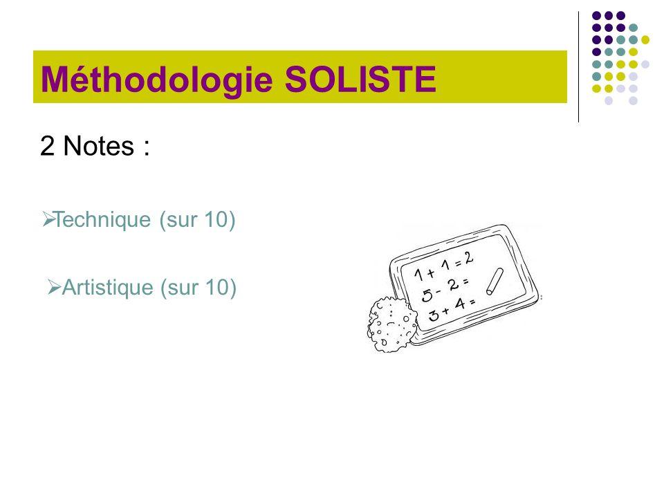 Méthodologie SOLISTE 2 Notes : Technique (sur 10) Artistique (sur 10)