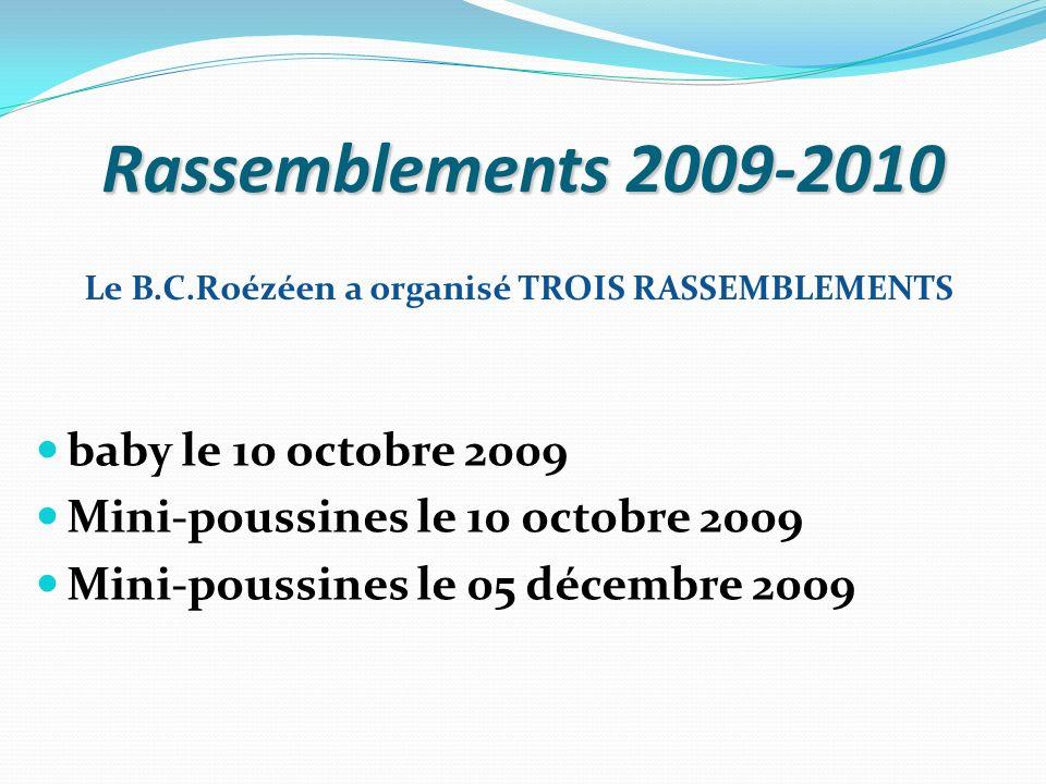 Rassemblements 2009-2010 baby le 10 octobre 2009