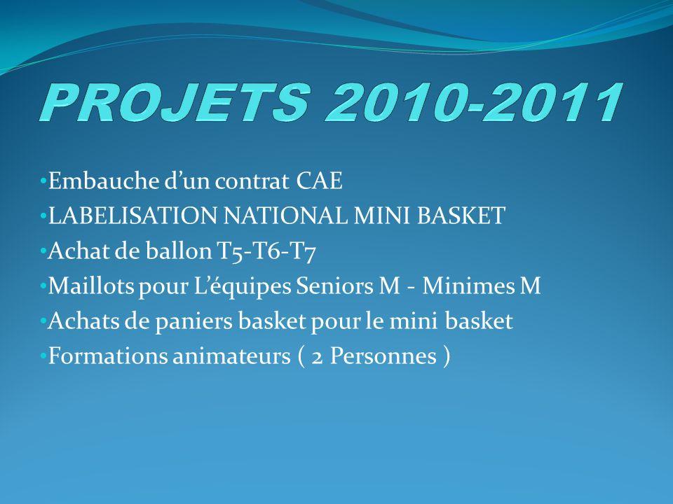 PROJETS 2010-2011 Embauche d'un contrat CAE