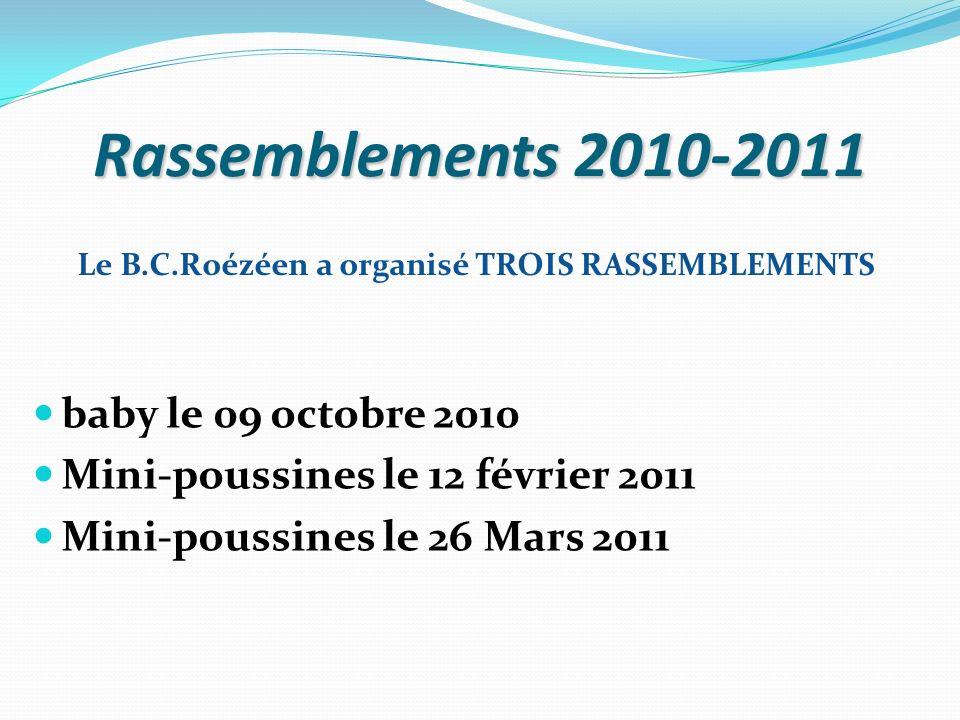 Rassemblements 2010-2011 baby le 09 octobre 2010