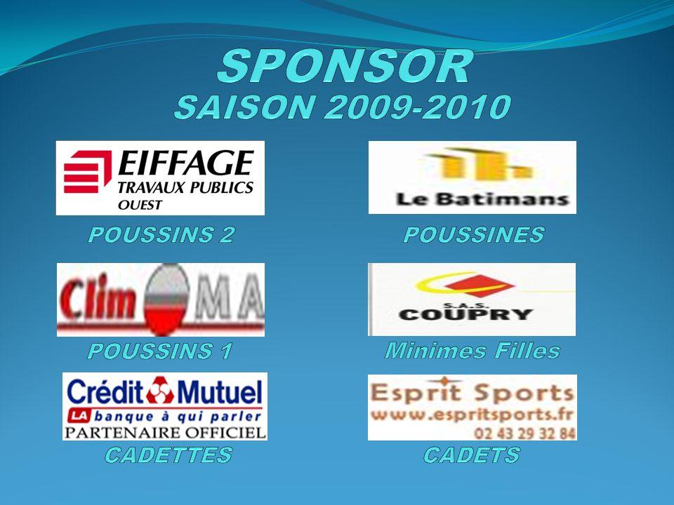 SPONSOR SAISON 2009-2010 Minimes Filles POUSSINS 2 POUSSINES