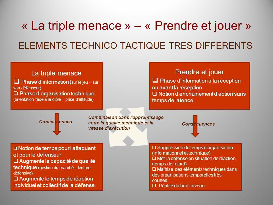 « La triple menace » – « Prendre et jouer »