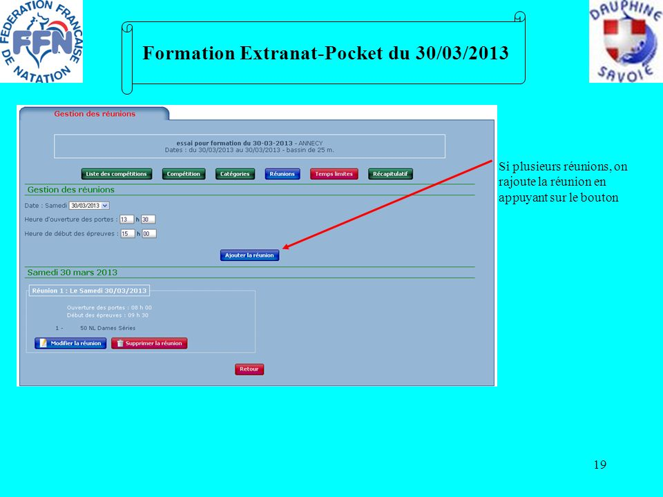 Formation Extranat-Pocket du 30/03/2013
