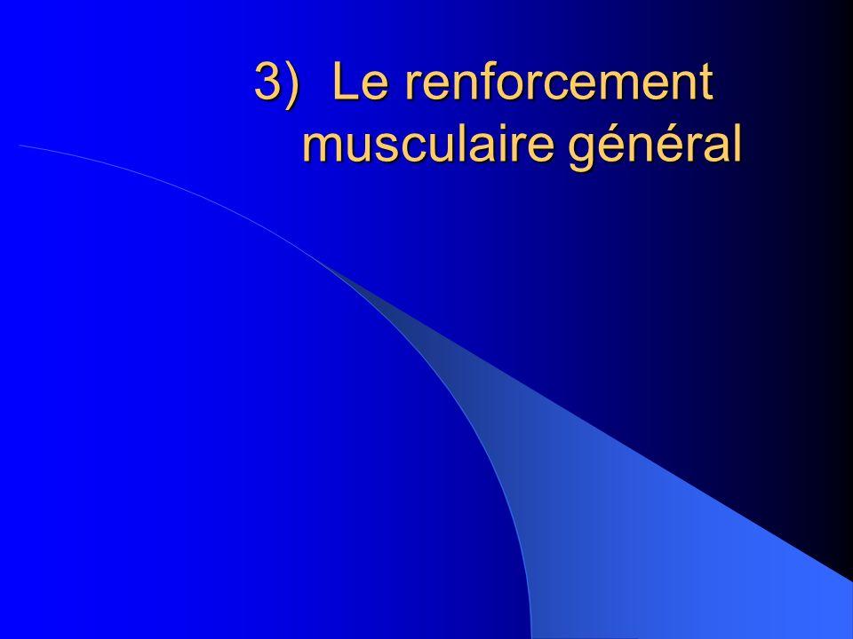 Le renforcement musculaire général