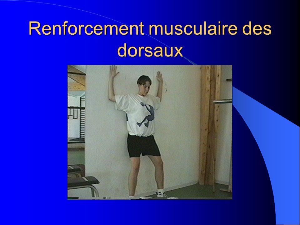 Renforcement musculaire des dorsaux