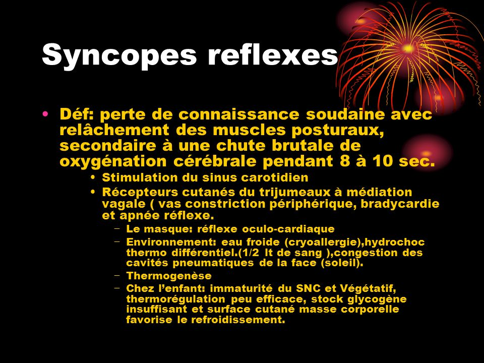 Syncopes reflexes