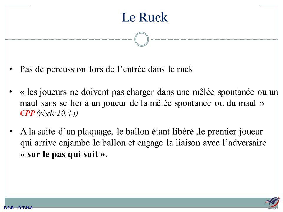 Le Ruck Pas de percussion lors de l'entrée dans le ruck