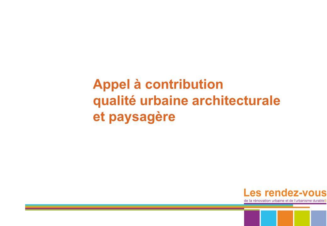qualité urbaine architecturale et paysagère
