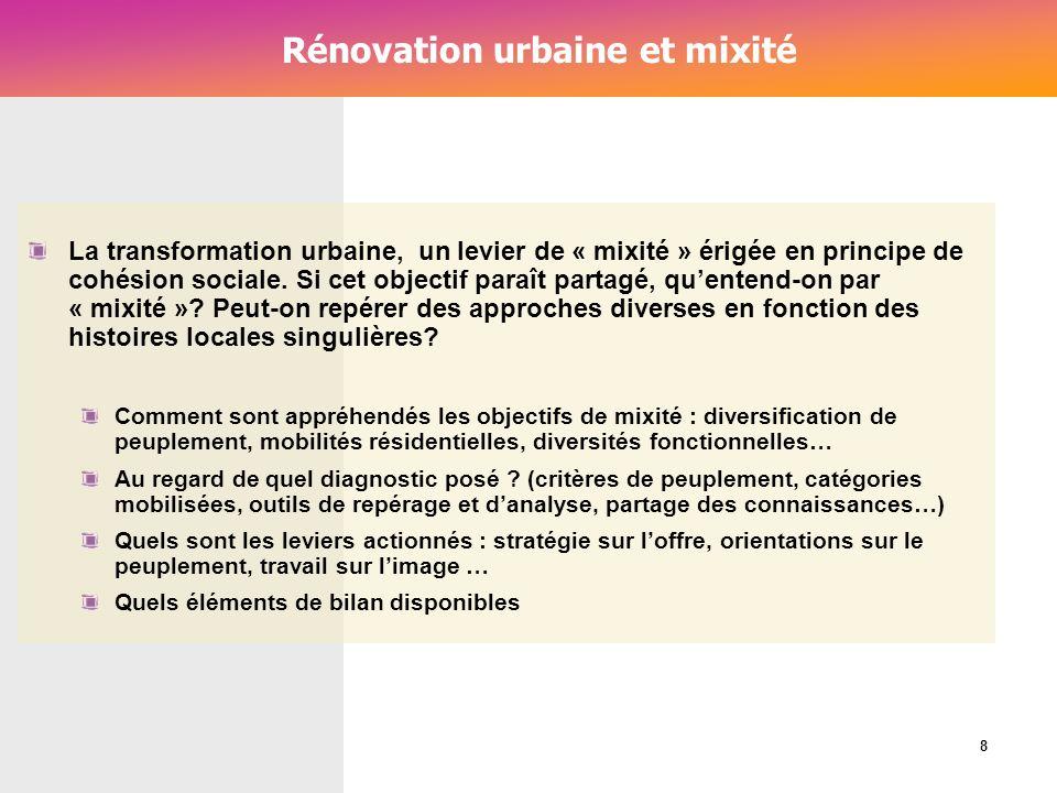 Rénovation urbaine et mixité