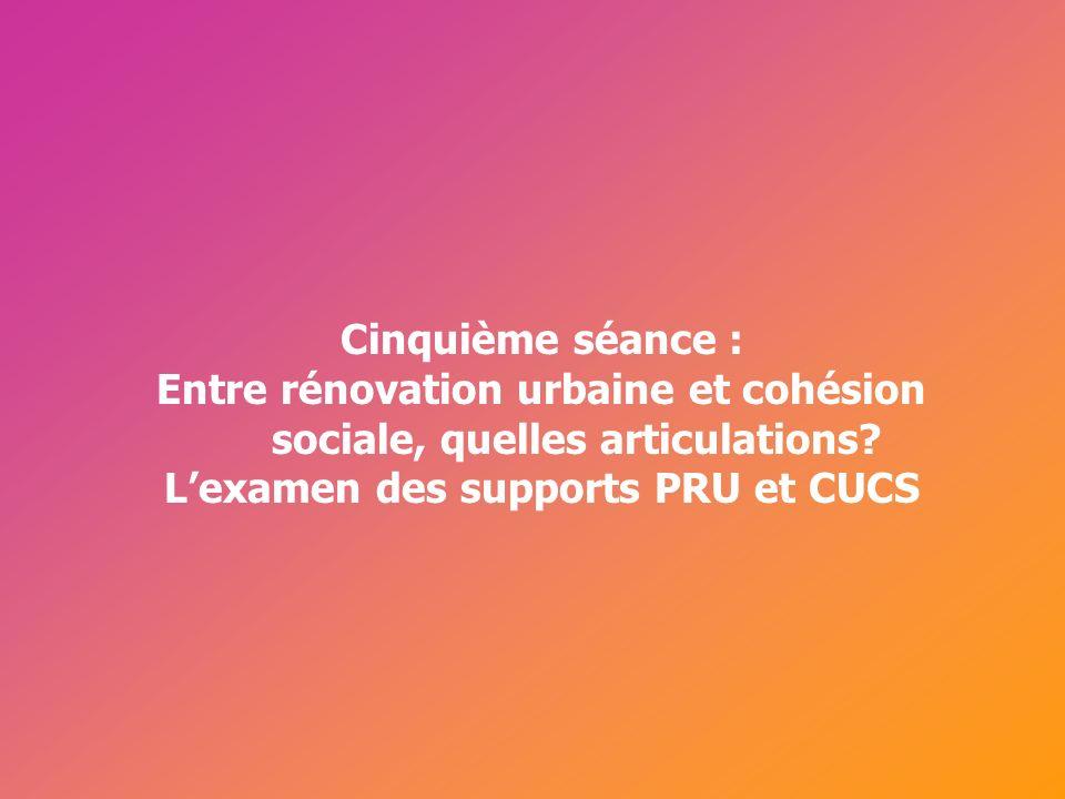 Entre rénovation urbaine et cohésion sociale, quelles articulations