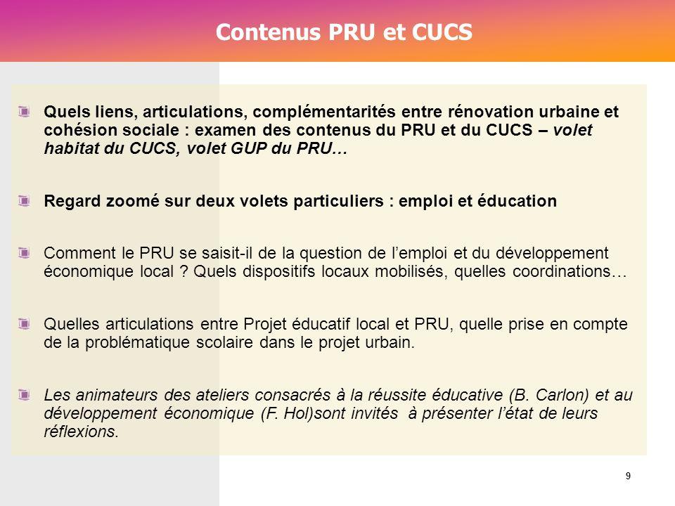 Contenus PRU et CUCS