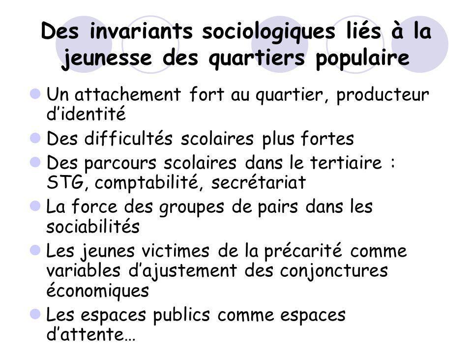 Des invariants sociologiques liés à la jeunesse des quartiers populaire