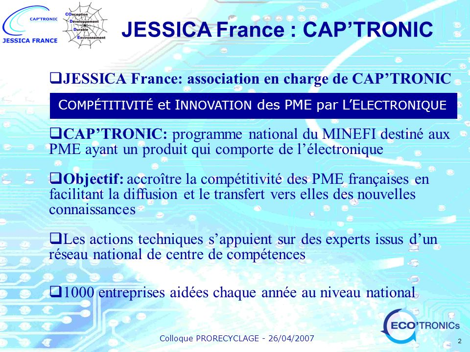 JESSICA France : CAP'TRONIC
