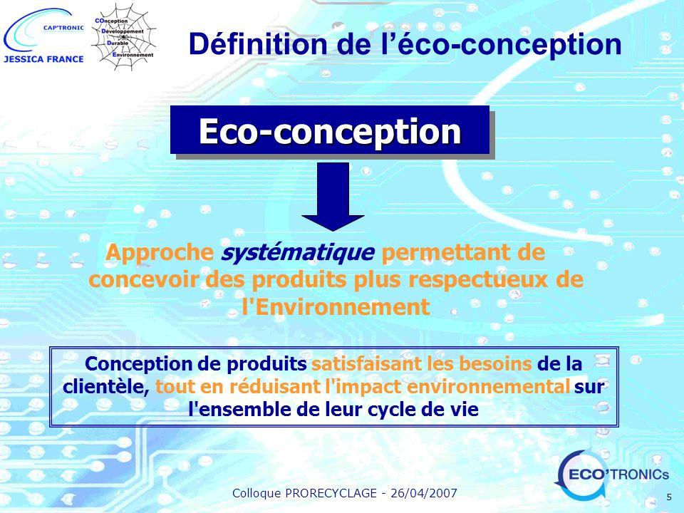 Définition de l'éco-conception