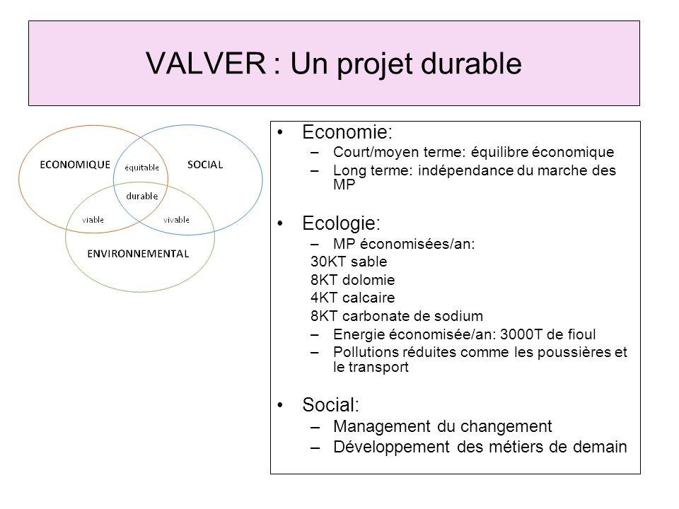 VALVER : Un projet durable
