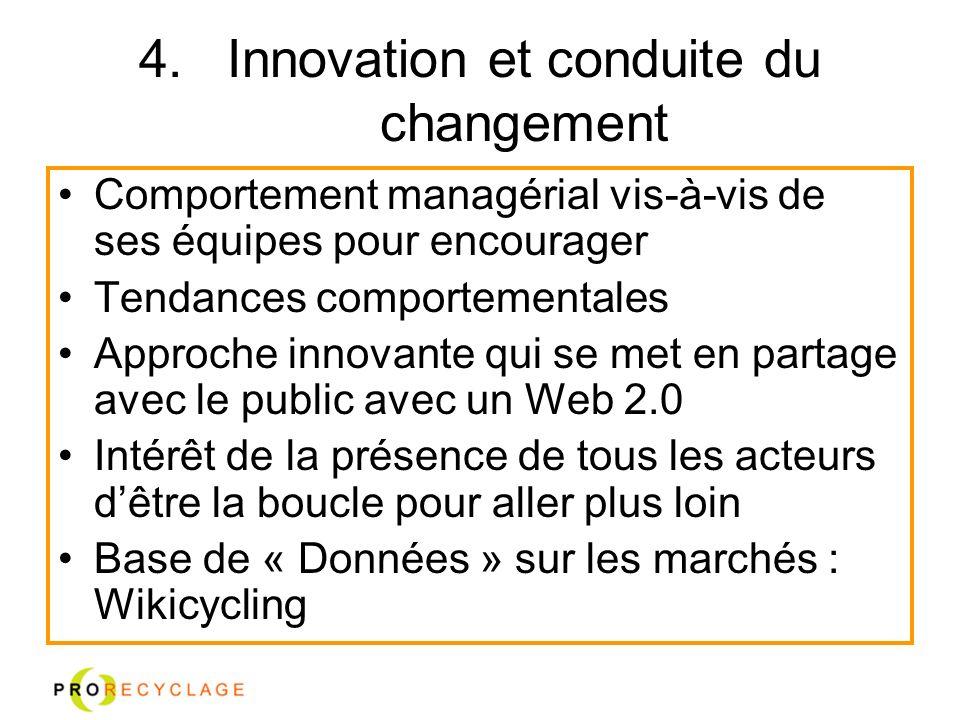 Innovation et conduite du changement