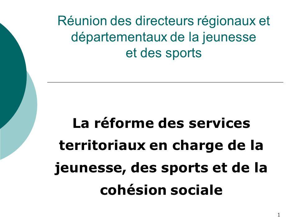 Réunion des directeurs régionaux et départementaux de la jeunesse et des sports