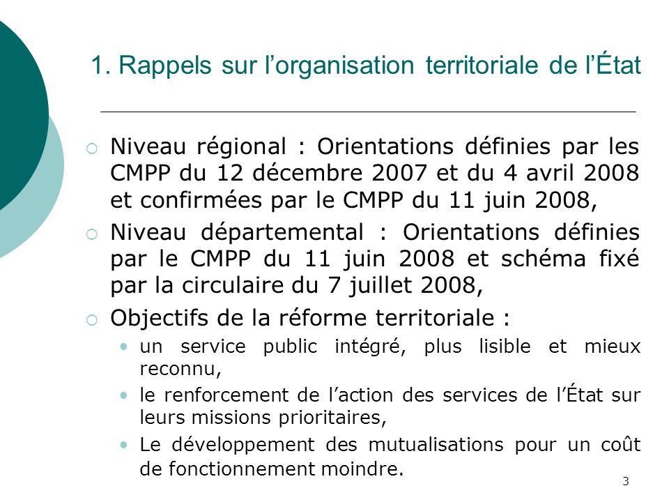 1. Rappels sur l'organisation territoriale de l'État
