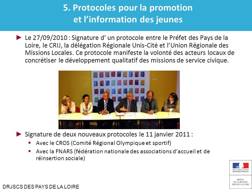 5. Protocoles pour la promotion et l'information des jeunes
