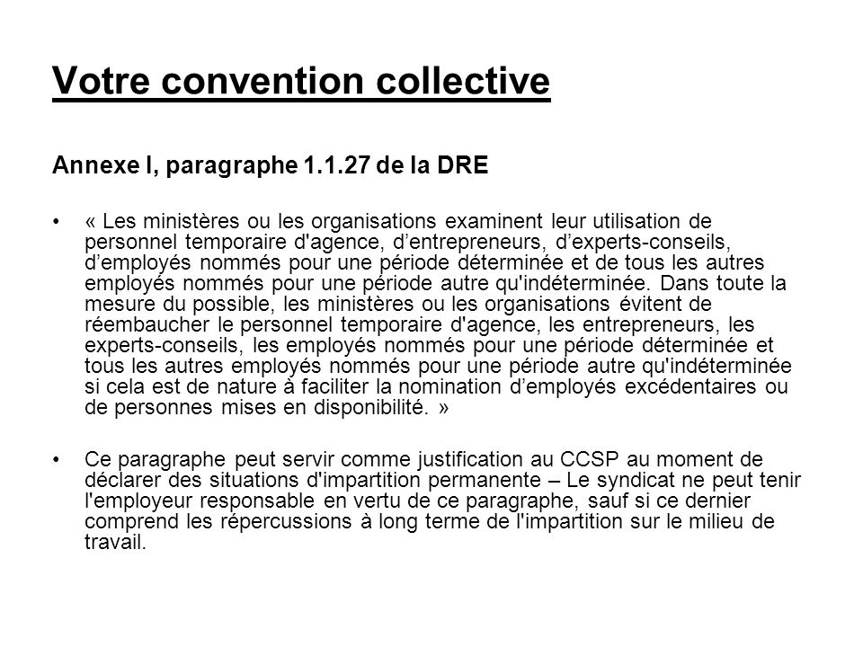 Votre convention collective