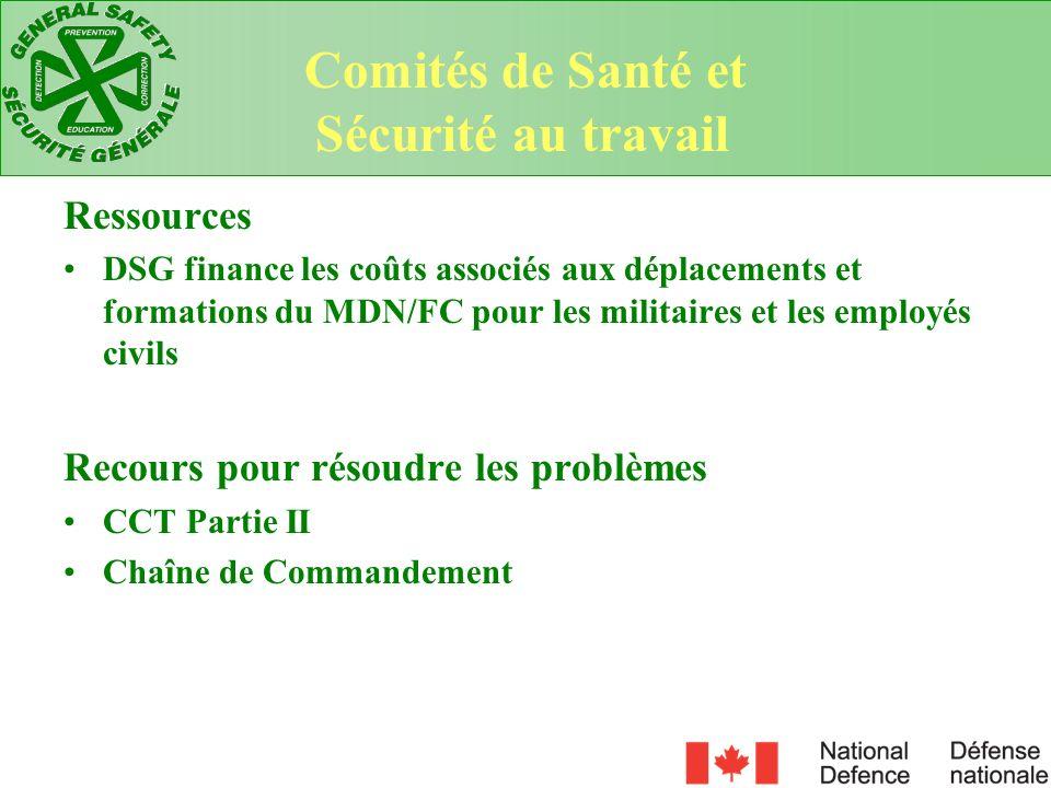 Comités de Santé et Sécurité au travail Ressources
