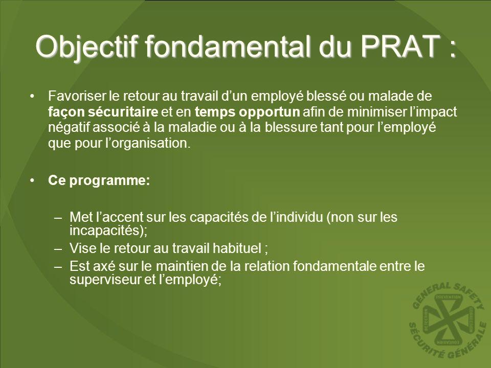 Objectif fondamental du PRAT :