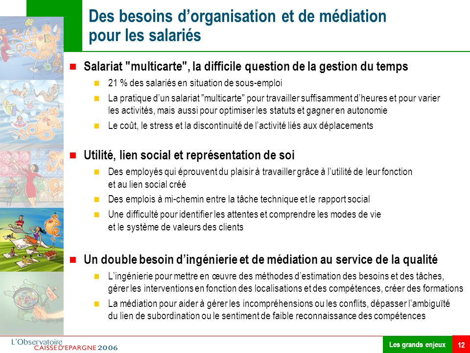 Des besoins d'organisation et de médiation pour les salariés