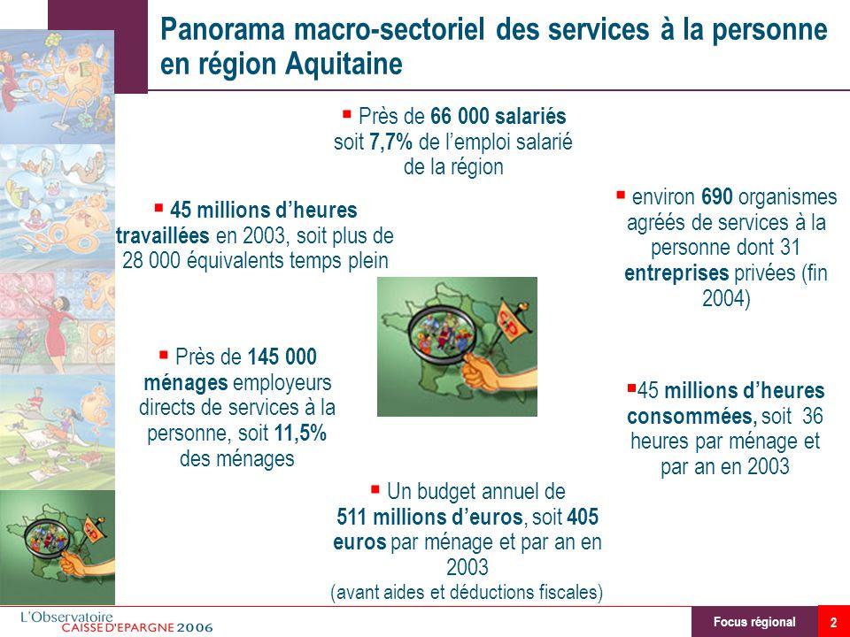 Panorama macro-sectoriel des services à la personne en région Aquitaine