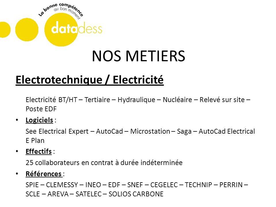 NOS METIERS Electrotechnique / Electricité