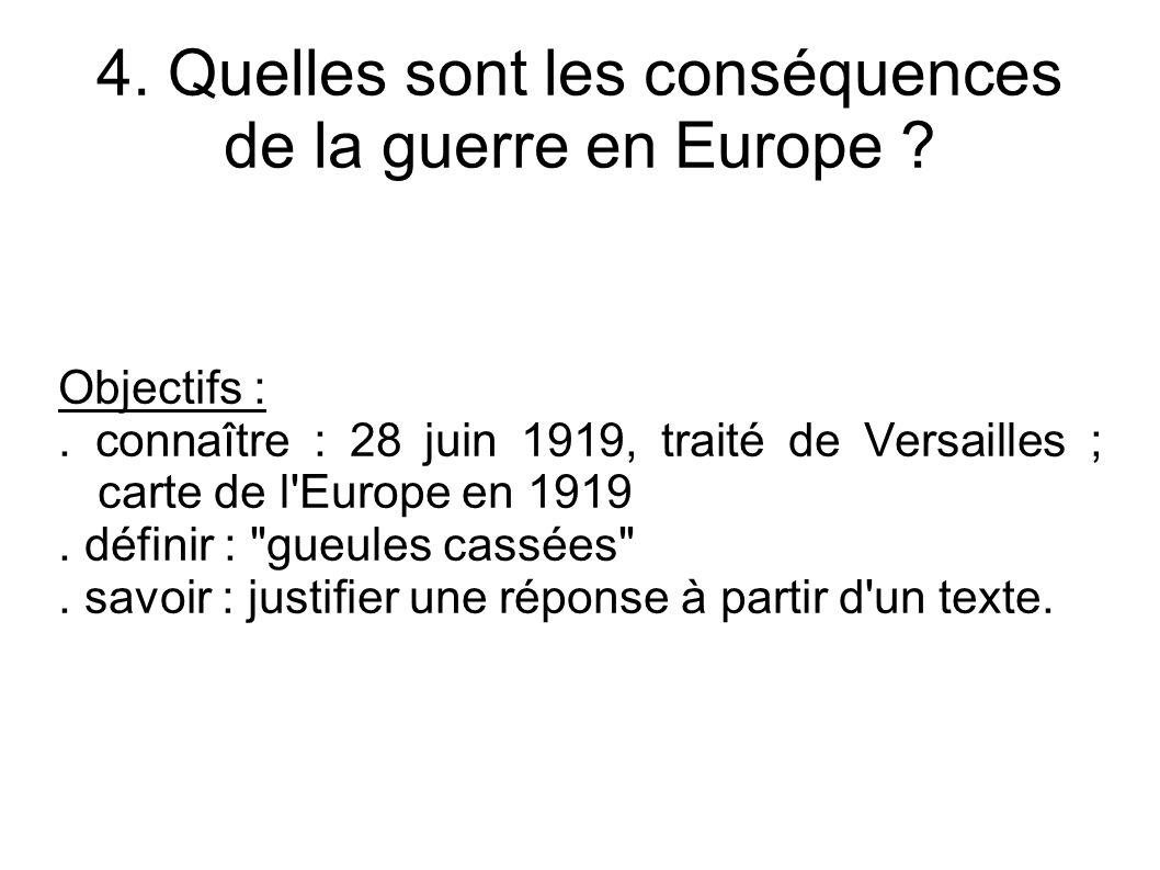 4. Quelles sont les conséquences de la guerre en Europe