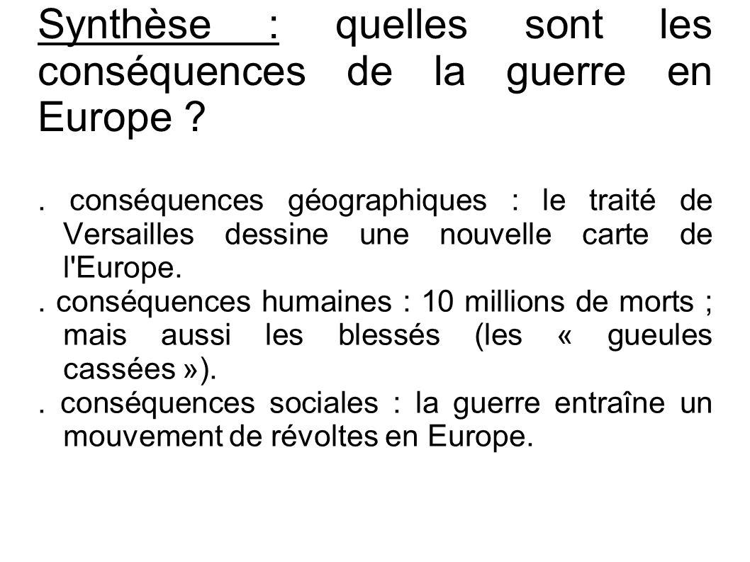 Synthèse : quelles sont les conséquences de la guerre en Europe