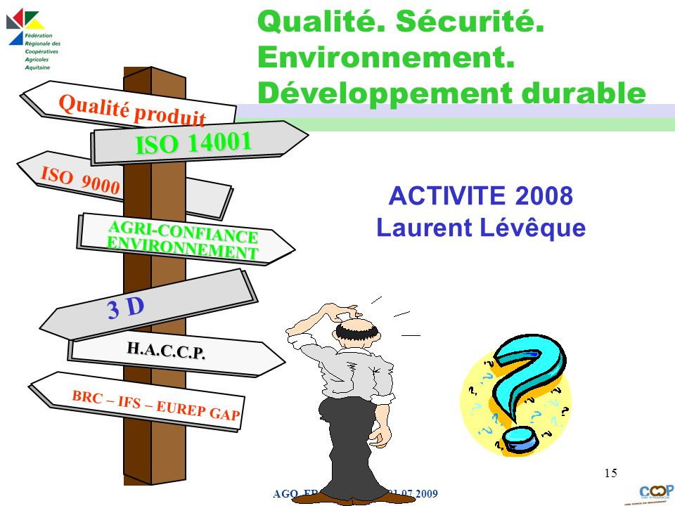 ACTIVITE 2008 Laurent Lévêque