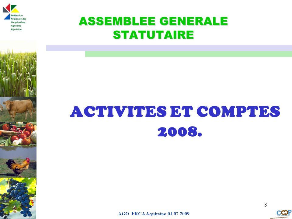 ASSEMBLEE GENERALE STATUTAIRE