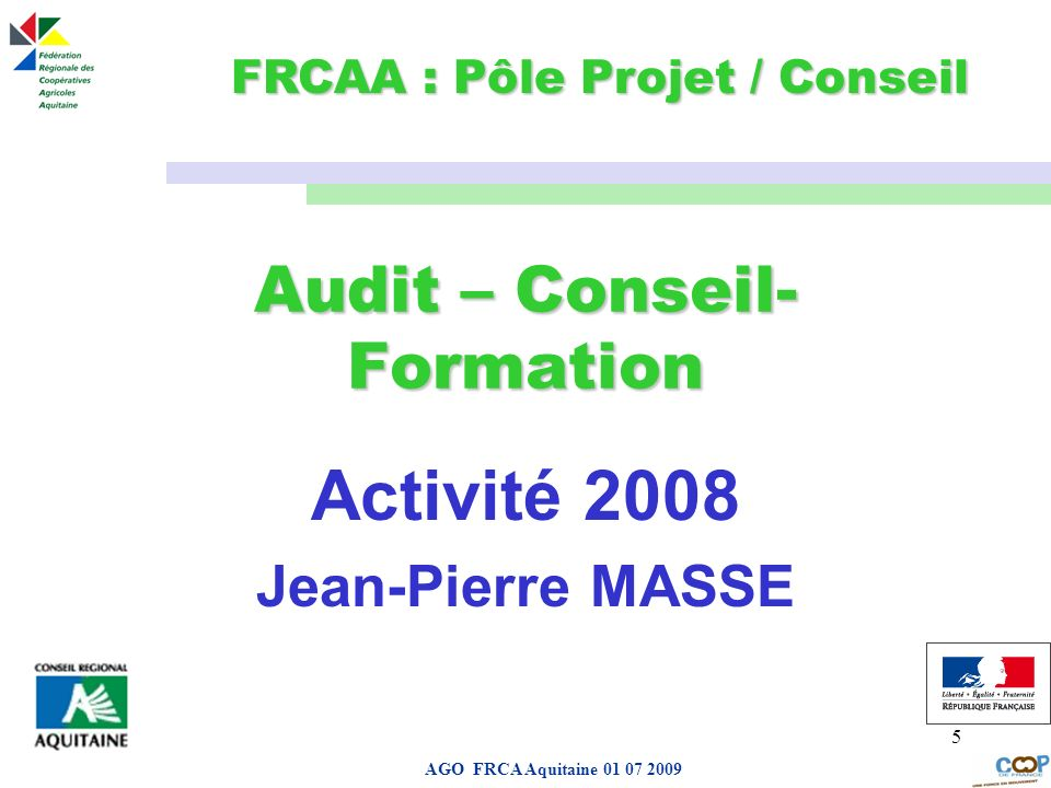 Audit – Conseil-Formation