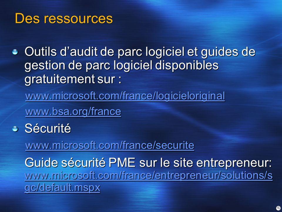 Des ressources Outils d'audit de parc logiciel et guides de gestion de parc logiciel disponibles gratuitement sur :
