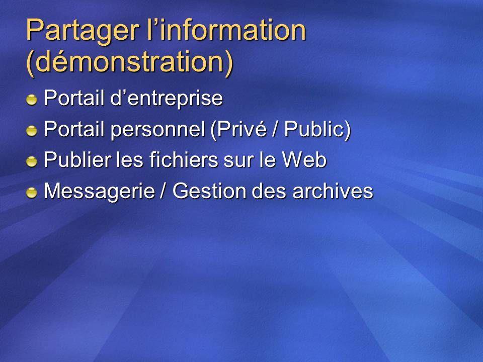 Partager l'information (démonstration)